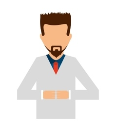 doctor science isolated icon vector image