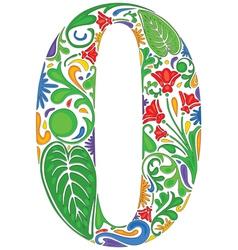 Floral zero vector image vector image