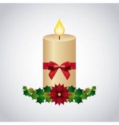 happy merry christmas decorative icon vector image