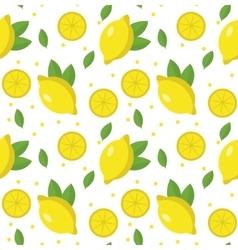 Lemon seamless pattern Lemonade endless vector image