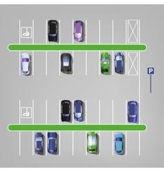 Parking lot top view 01 C vector image vector image