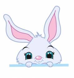Peeking bunny vector