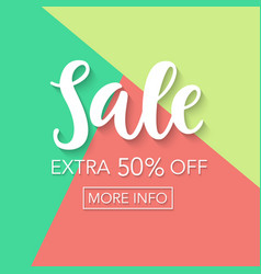 Sale fifty percent off online shopping template vector