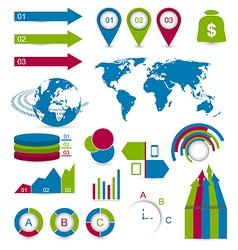 Set detail infographic elements vector image