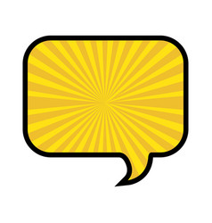 silhouette of rounded rectangle speech in yellow vector image