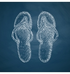 slippers icon vector image vector image
