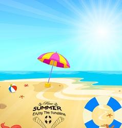 Time summer enjoy the sunshine vector