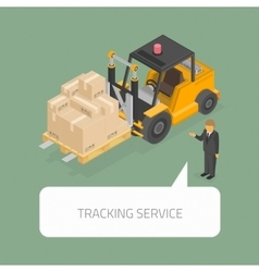 Tracking service concept vector image vector image