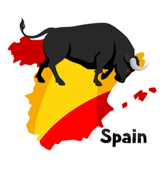 Traditional spanish corrida bull on background vector