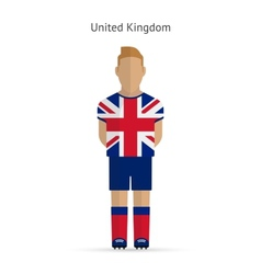 United Kingdom football player Soccer uniform vector image