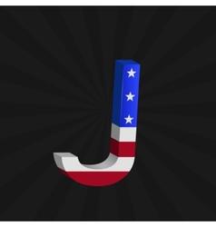 Usa flag alphabet vector