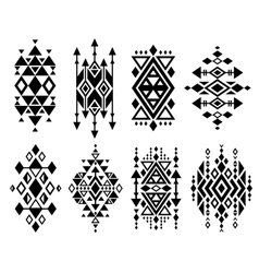 Vintage mexican aztec tribal traditional vector image vector image