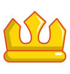 viscount crown icon cartoon style vector image
