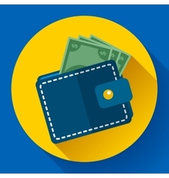 Wallet and Money Icon vector image vector image
