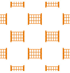 Yard fence pattern seamless vector