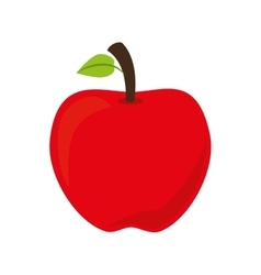 apple fruit school isolated vector image