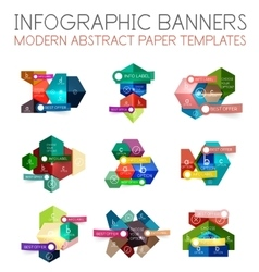 Business geometric infographic banner templates vector