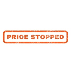 Price stopped rubber stamp vector