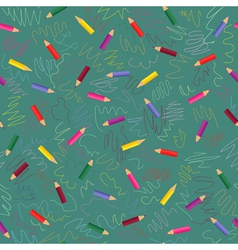 colored pencils - seamless pattern vector image