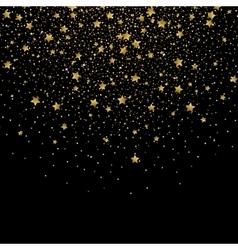 Gold confetti glitter on black background vector