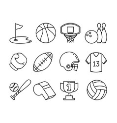 Set of sport icons vector