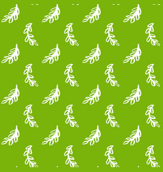 Natural leaf green seamless pattern vector