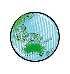 Exploration earth planet in the galaxy space vector
