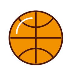 brightly basket ball cartoon vector image