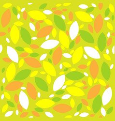 Seamless retro geometric pattern with leaves vector