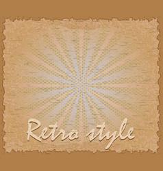 Retro style poster horizontal vector