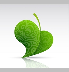 Leaf shape as design element vector