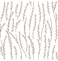 Seamless pattern with willow branches vector
