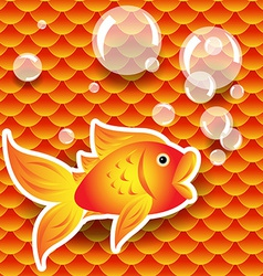 Seamless small goldfish or koi fish scale pattern vector