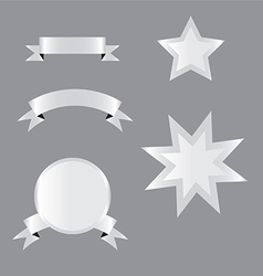 Metal labels vector