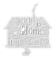 cutout home words vector image