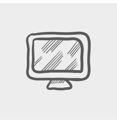 Monitor sketch icon vector