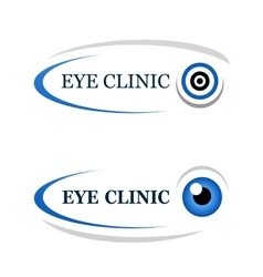Eye clinic icon vector