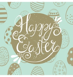 Easter greeting blue vector