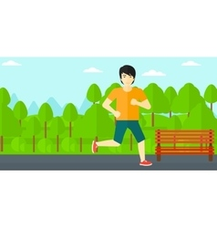 Sportive man jogging vector