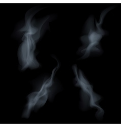 Smoke isolated on white background vector