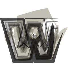 Abstract letter w vector
