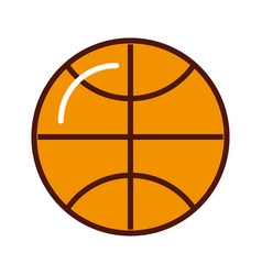 brightly basket ball cartoon vector image vector image