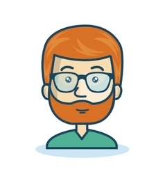 Character man bearded hipster isolated vector