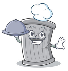 chef trash character cartoon style vector image vector image