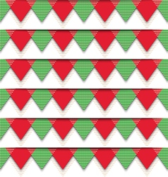 Christmas Bunting Pattern vector image