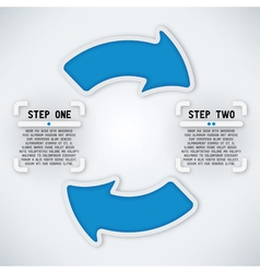 Circular Arrows - Two Steps vector image