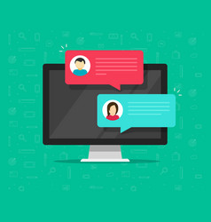 computer online chat flat vector image vector image