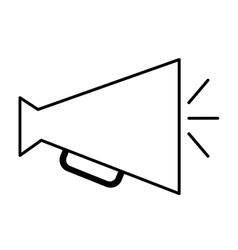 Director megaphone isolated icon design vector