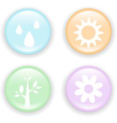Fresh nature icon vector