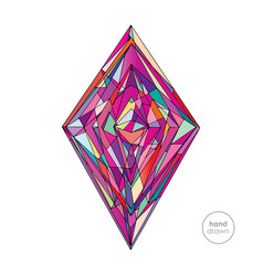 hand drawn abstract rhombus vector image vector image
